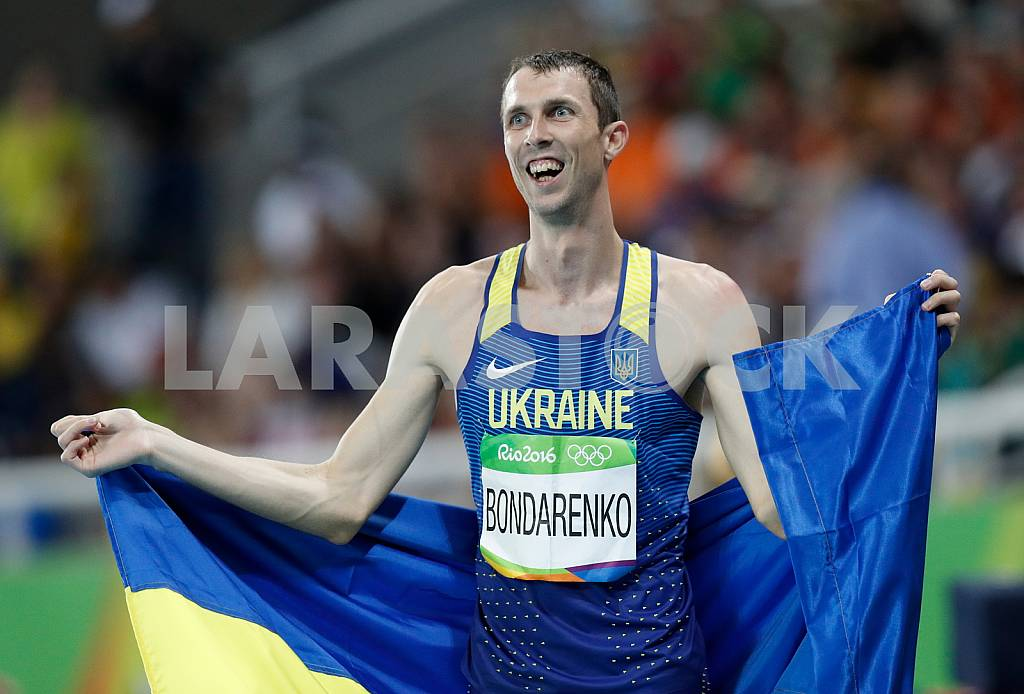 Bogdan Bondarenko, a bronze medalist in the high jump — Image 34001
