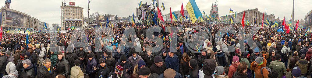 Mass protest against the pro-Russian Ukrainians course Presiden — Image 3421