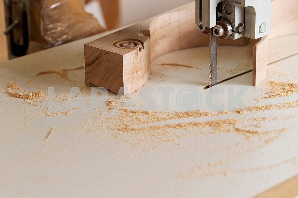 Carpenter tools on wooden table with sawdust. Circular Saw. Carpenter workplace top view — Image 45741