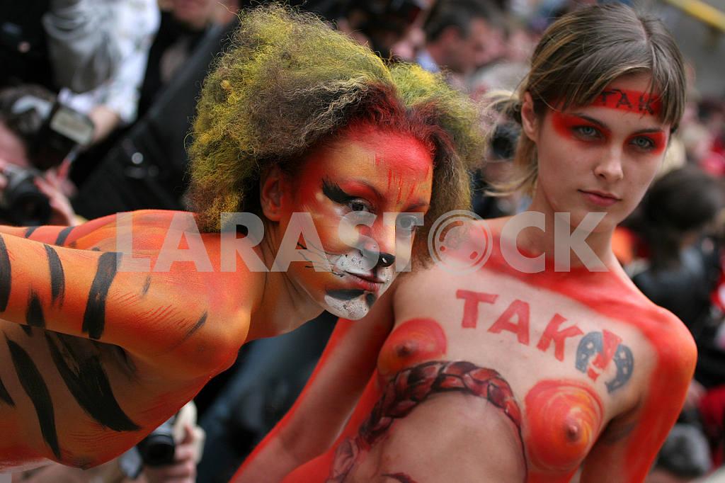 Model at the festival of body art — Image 36271
