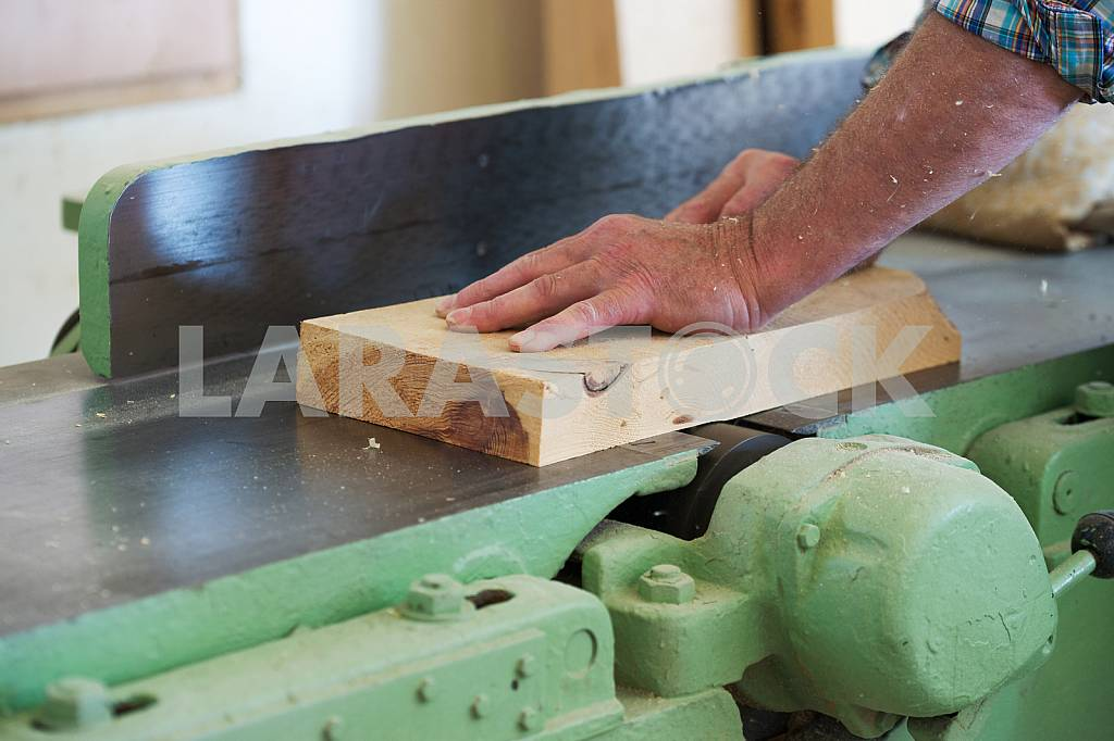 Carpenter tools on wooden table with sawdust. Circular Saw. Carpenter workplace top view — Image 45691