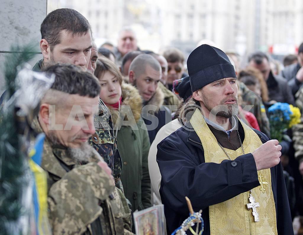 Церемония прощания с бойцом батальона Айдар. — Изображение 26902