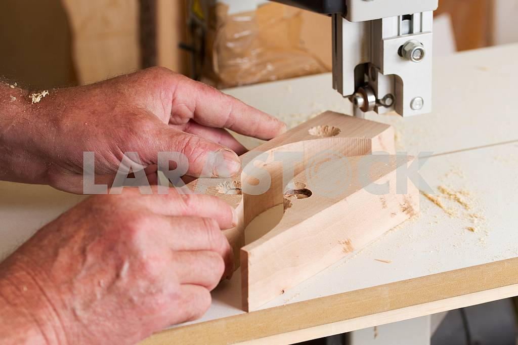 Carpenter tools on wooden table with sawdust. Circular Saw. Carpenter workplace top view — Image 45722