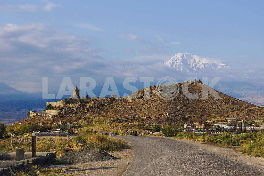 Panoramic views of the Khor Virap and Mount Ararat. — Image 20042