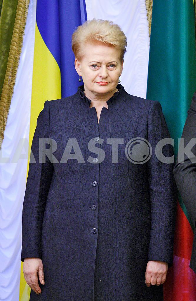 Dalia Grybauskaite,portrait on a belt — Image 49042