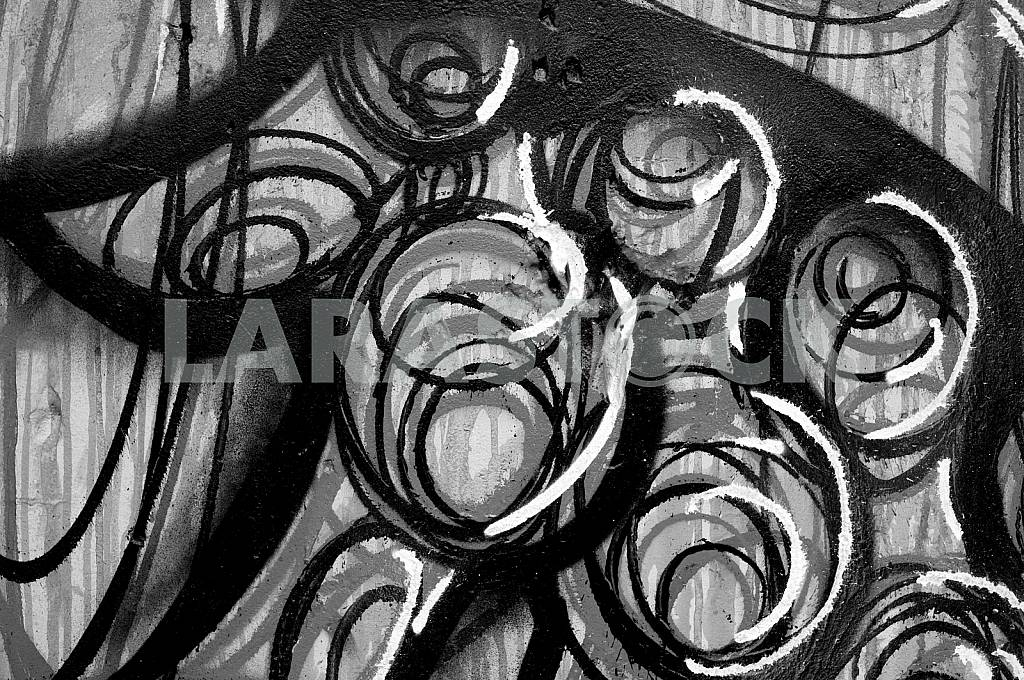 Fragment of grafiti on a concrete wall.Abstract background. — Image 32452