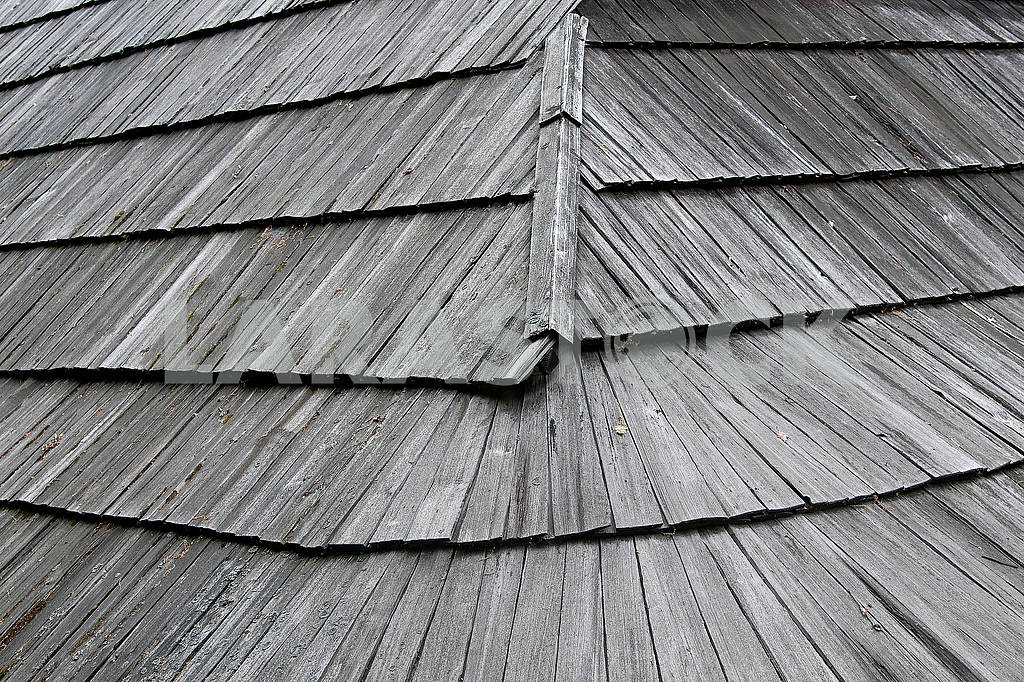 Old wooden roof, Gonta.  Abstract  background — Image 71723