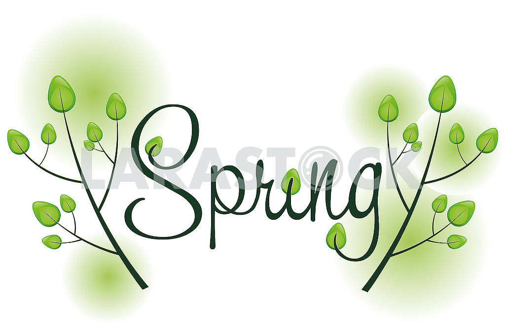 Spring background with text — Image 78833