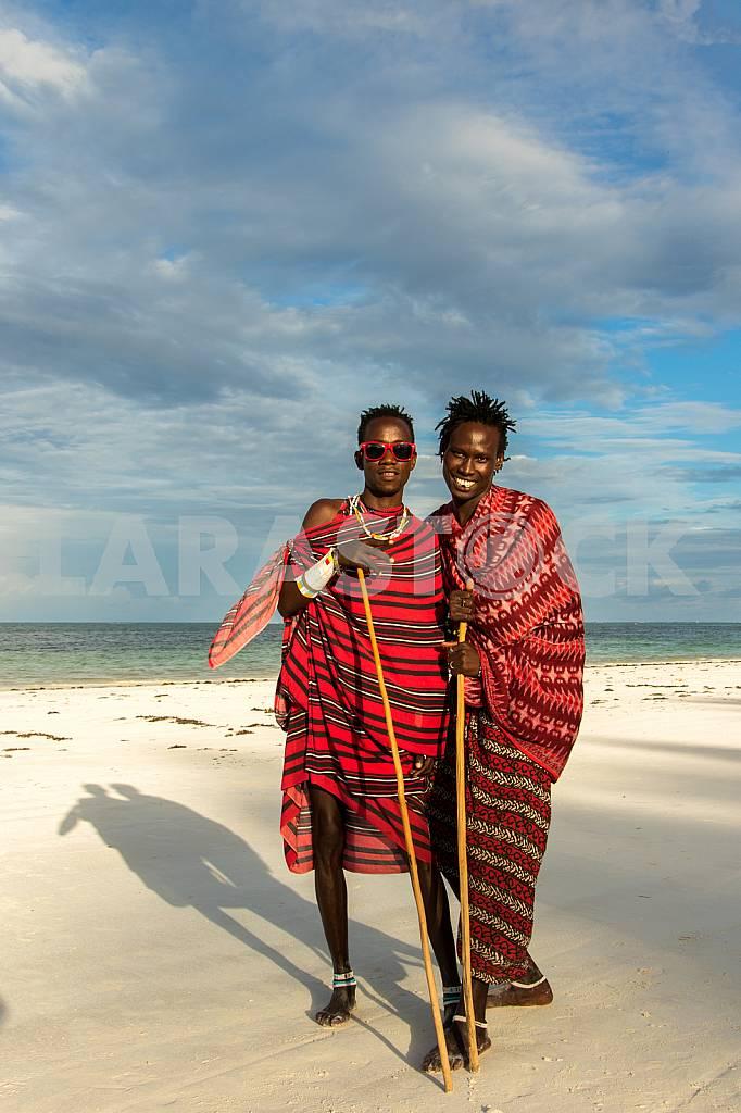 Zanzibar, posing Masai — Image 32133