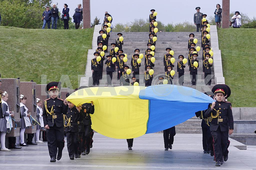 Parade of military lyceums in Kiev — Image 29483