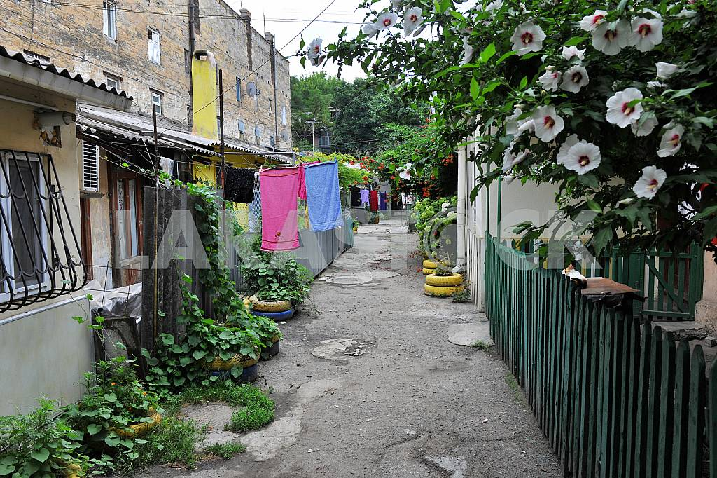 Clothes in the yard in Odessa — Image 36183