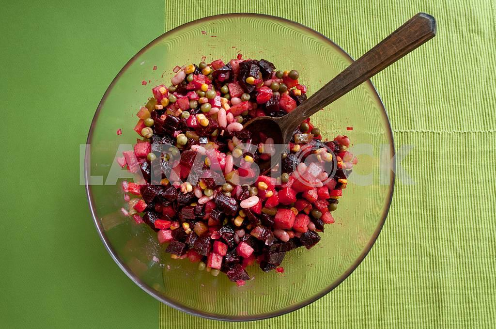 Vinaigrette - popular in Ukraine lettuce from a beet and vegetables. — Image 31893