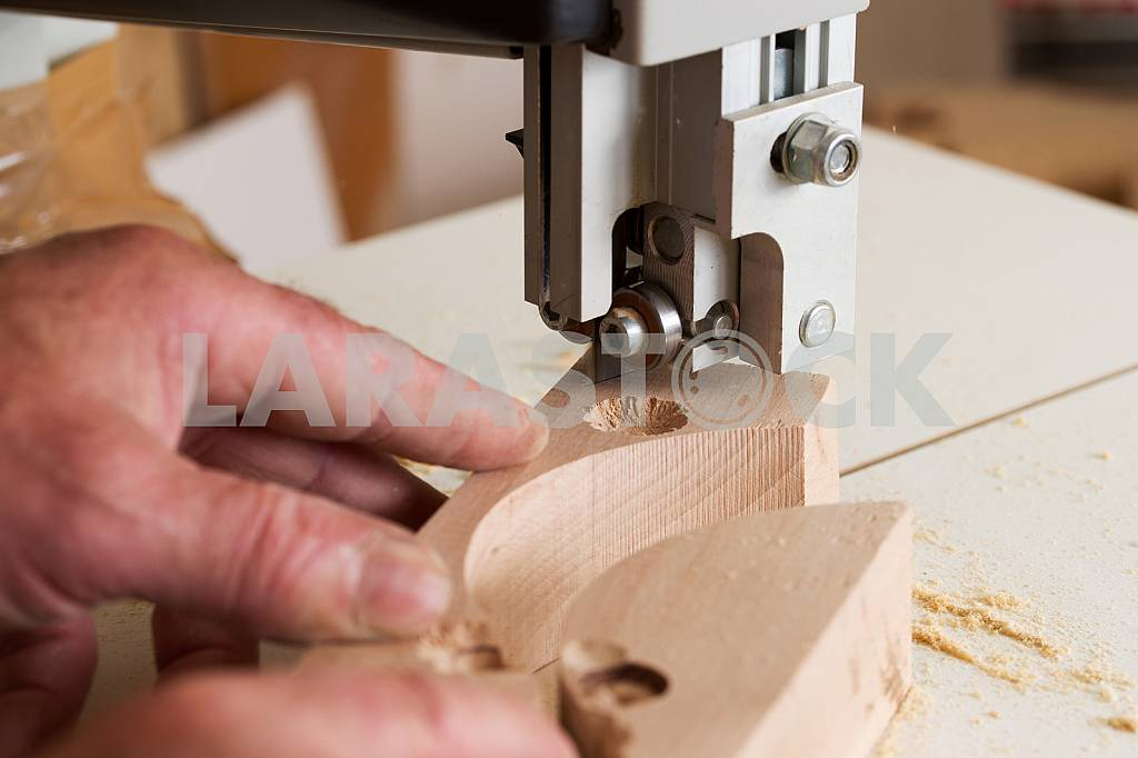 Carpenter tools on wooden table with sawdust. Circular Saw. Carpenter workplace top view — Image 45724
