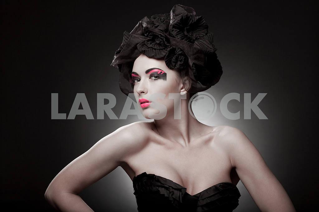 Крупным планом портрет красивой молодой женщины. Мода Арт-фото — Изображение 9754