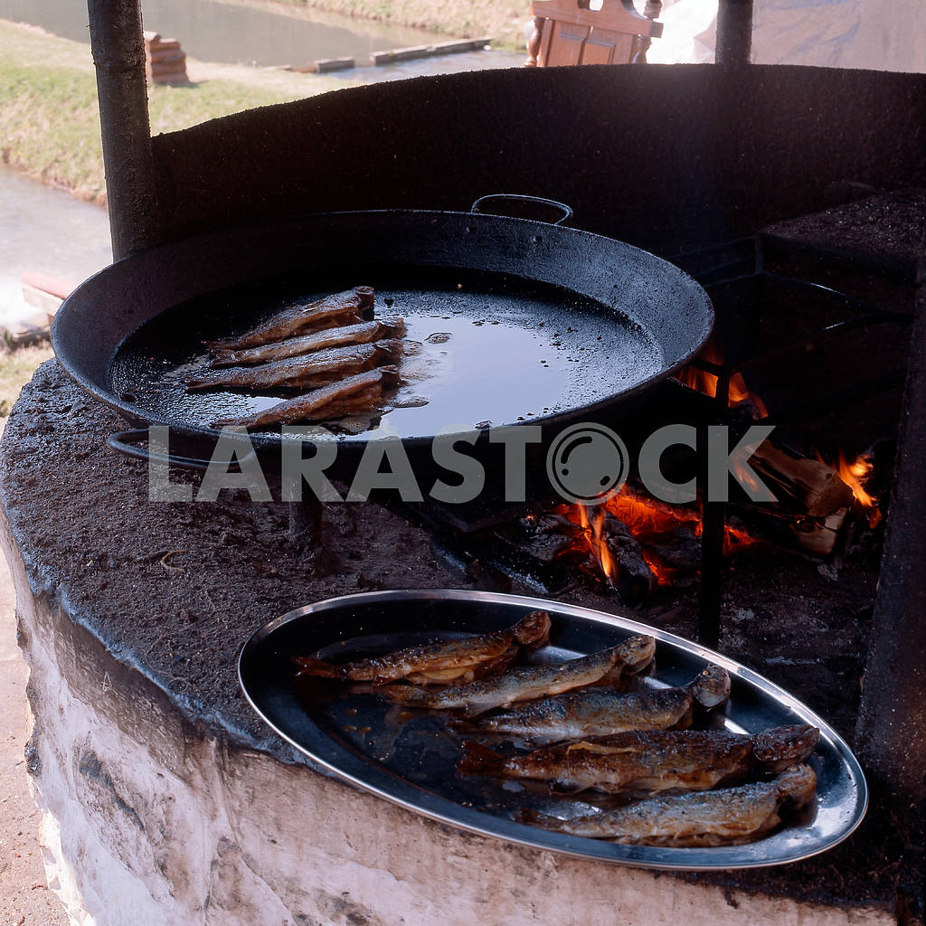 Fish fried in a pan — Image 22154