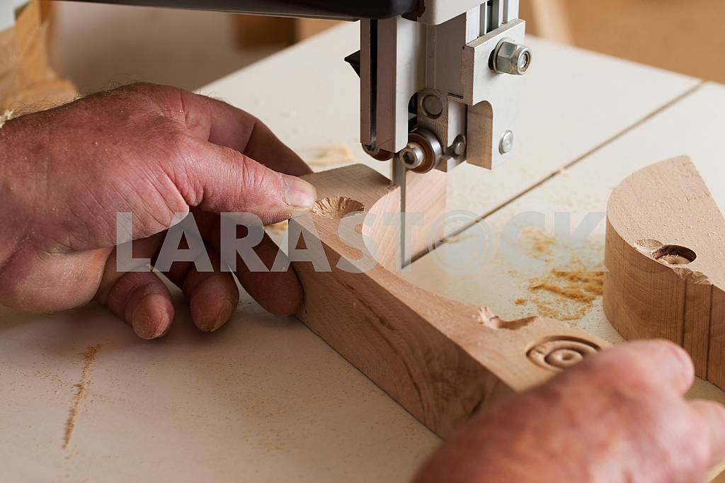 Carpenter tools on wooden table with sawdust. Circular Saw. Carpenter workplace top view — Image 45725