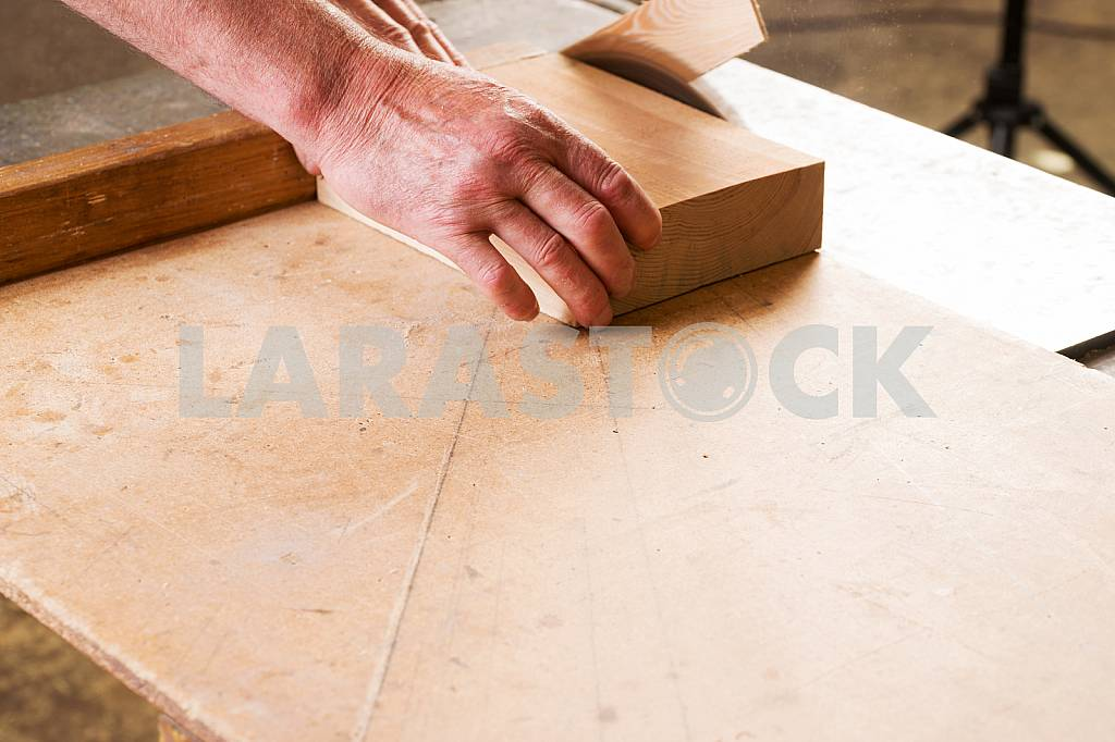 Carpenter tools on wooden table with sawdust. Circular Saw. Carpenter workplace top view — Image 45665