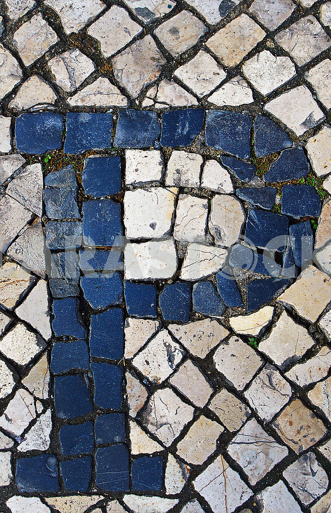 Portuguese sidewalk of calcada in the form of the letter P, Lisbon — Image 78406