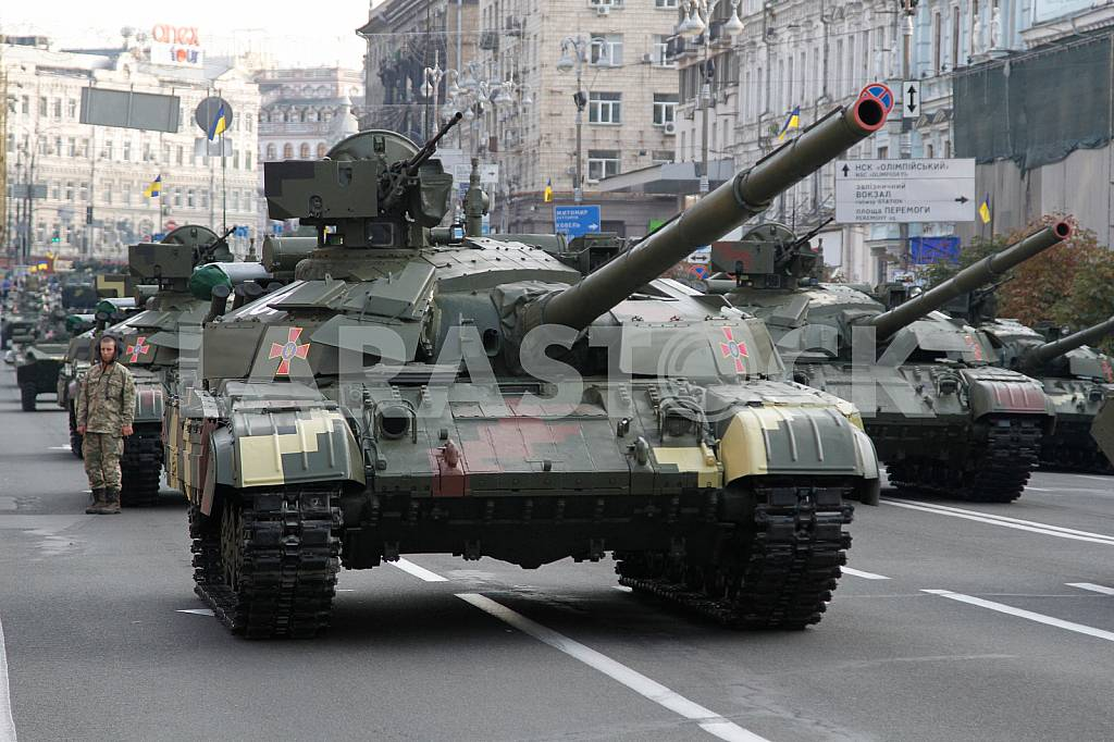 Tanks are at the rehearsal of the military parade in Kiev — Image 34516