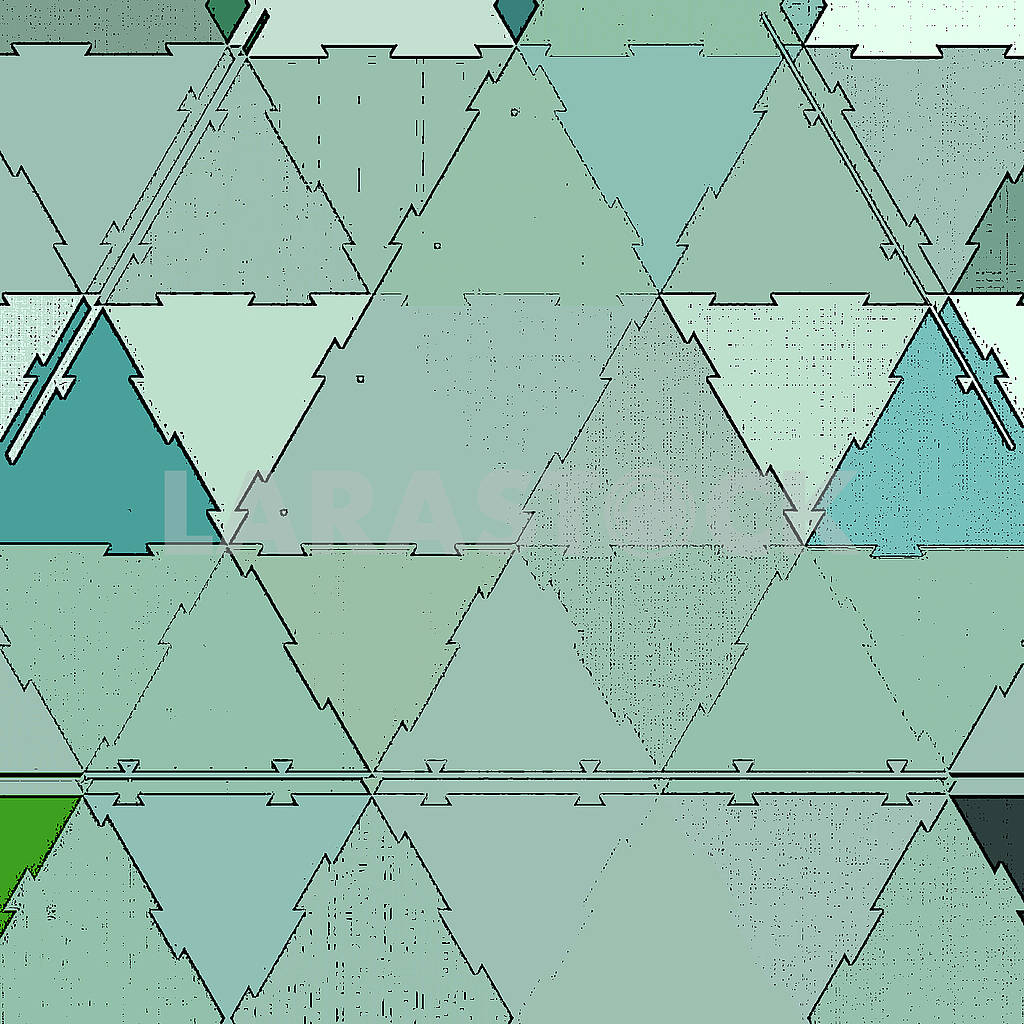 Pastel triangles texture blue background or continuous pattern. Mint green triangle geometric mosaic card document template. — Image 83046