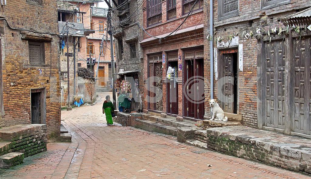 Streets Ancient Bhaktapur (Bhaktapur) — Image 3246