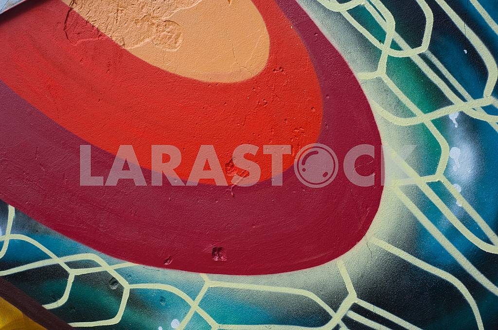 Fragment of grafiti on a concrete wall.Abstract background. — Image 32456