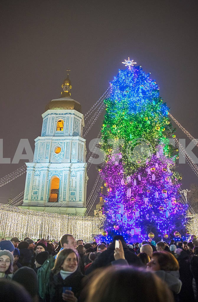 Celebrating the New Year in the center of Kiev on the night from December 31st to January 1st. — Image 67356