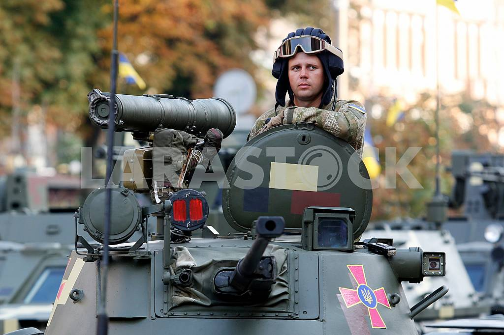 Dress rehearsal of the military parade dedicated to the Day of Independence of Ukraine — Image 34476