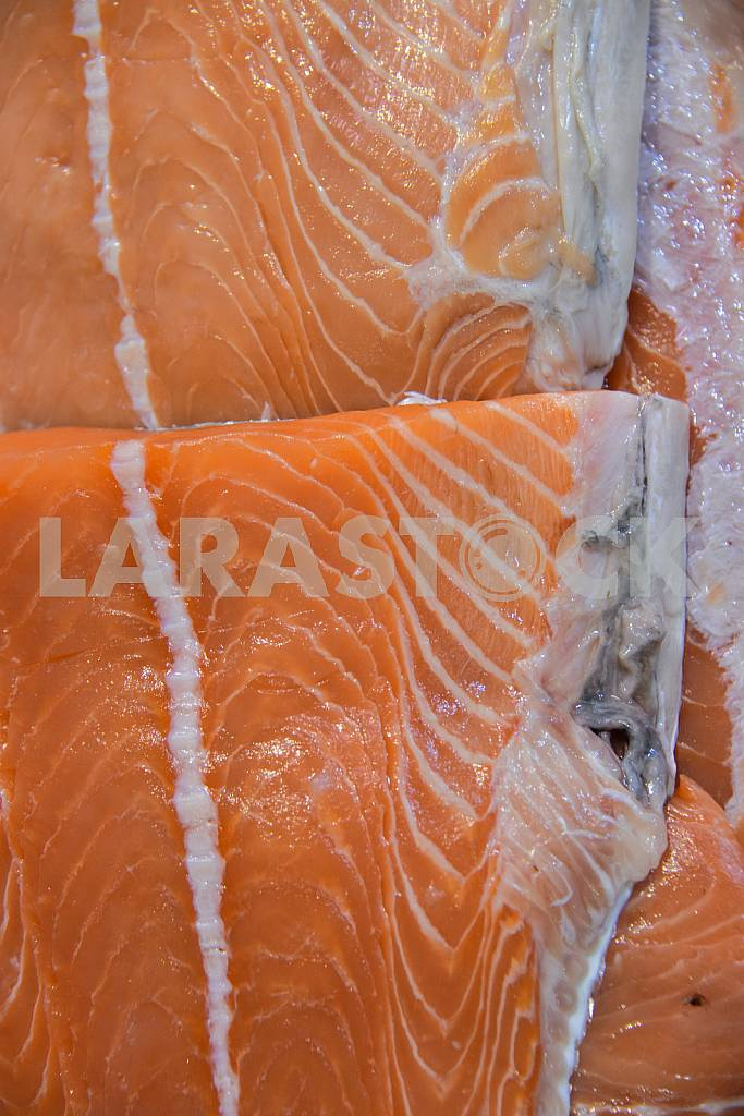A large piece of trout fish on the table — Image 38286