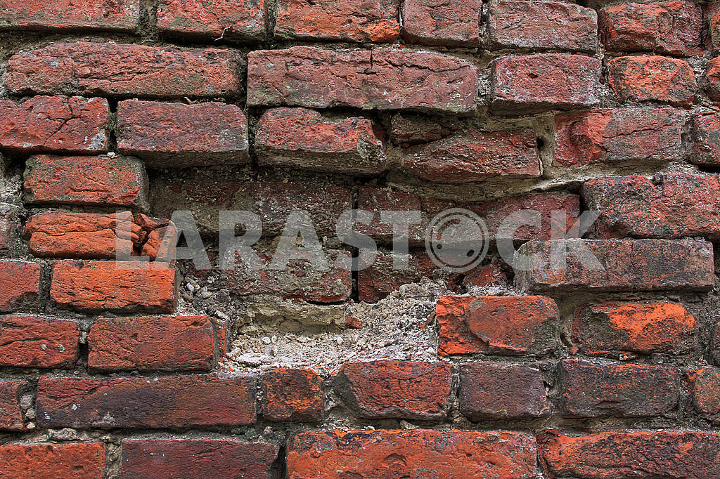Old red brick wall — Image 68327