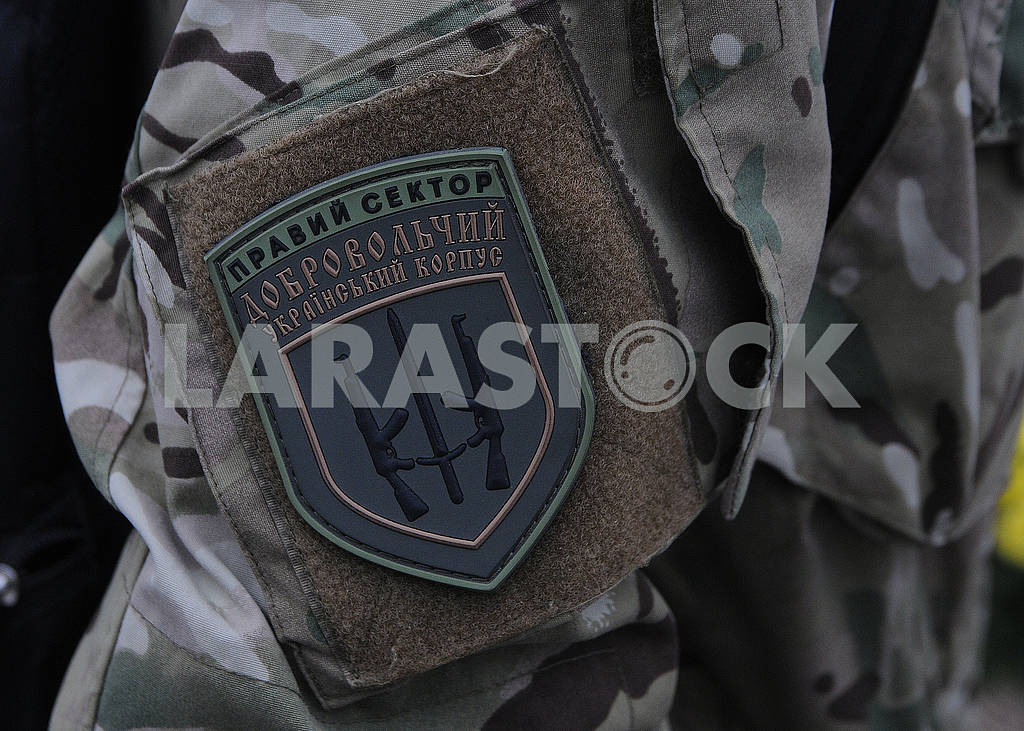 Chevron soldier of the volunteer Ukrainian corps Right sector — Image 70047