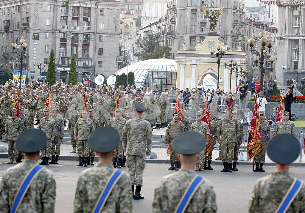 The rehearsal of the military parade in Kiev — Image 34247