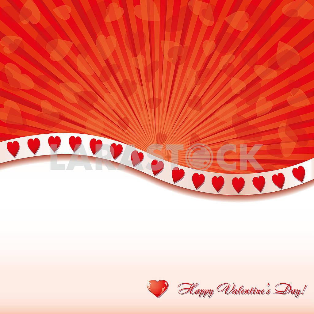 Valentine background withlittle glitter hearts and place for greetings — Image 78148