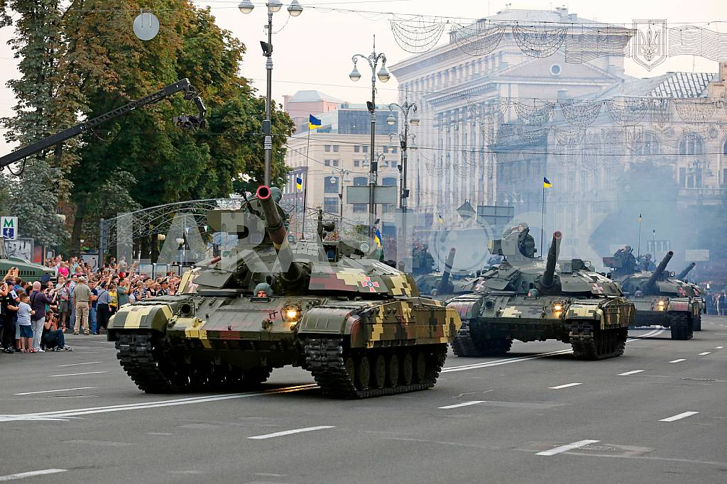 Dress rehearsal of the military parade dedicated to the Day of Independence of Ukraine — Image 34488