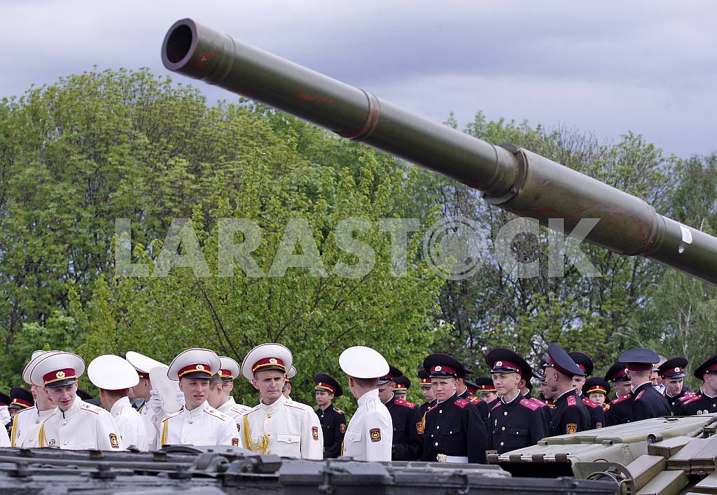 Parade of military lyceums in Kiev — Image 29488