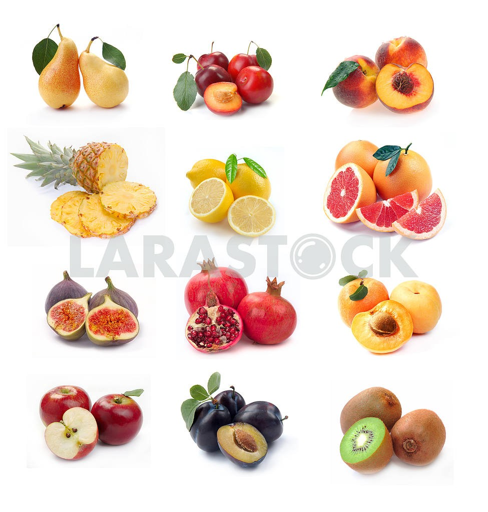Collection of ripe fruits images — Image 3969