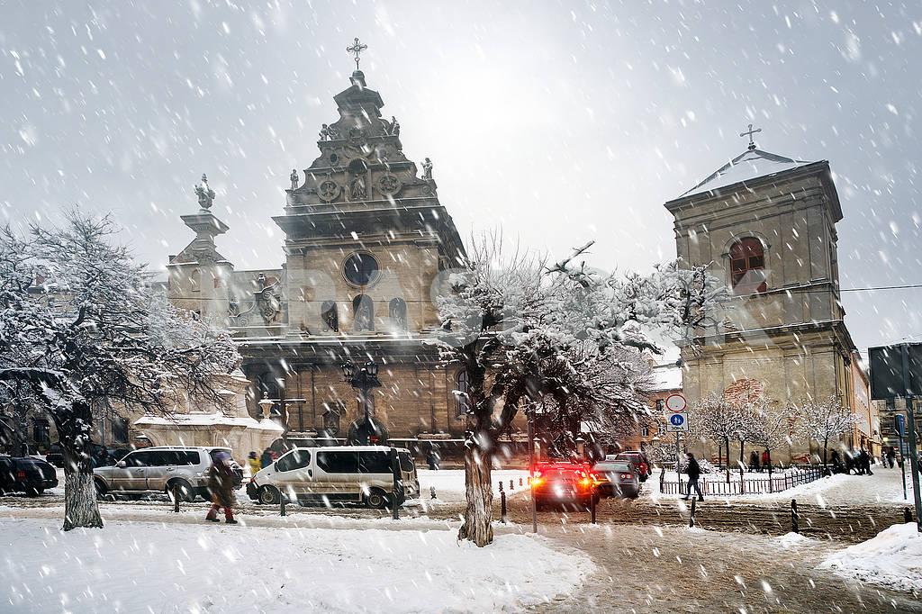 Snowy Christmas Lviv — Image 68689