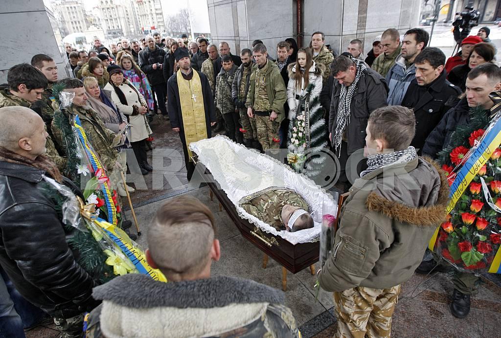Церемония прощания с бойцом батальона Айдар. — Изображение 26899