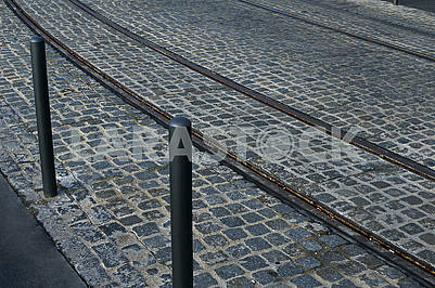 Tram rails