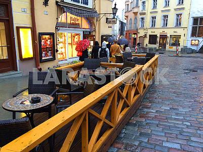 Street cafe in Tallinn