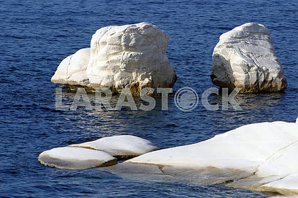White rocks in the sea