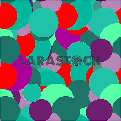 Dark abstract seamless background with colored roundы