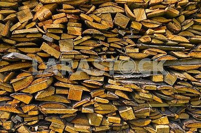 Pile of wooden bars