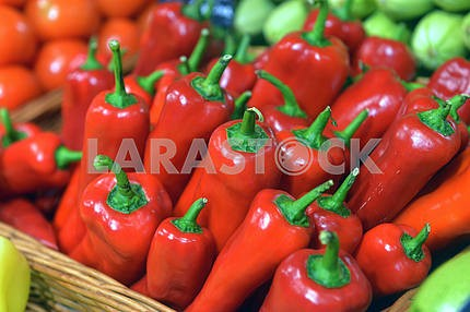 peppers on display
