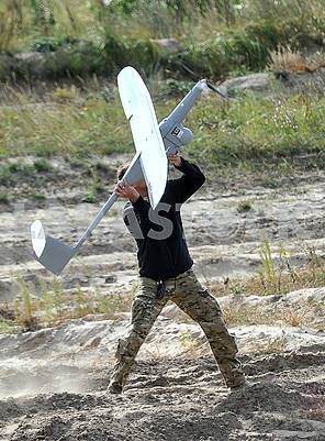 Serviceman with drone