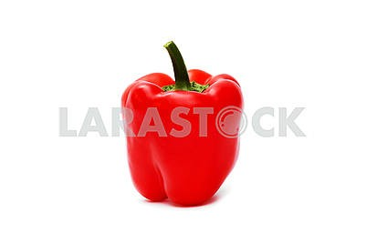 Red pepper over white background. pepper is isolated