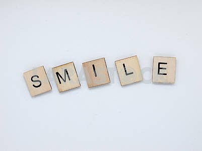 Smile Wooden Letters