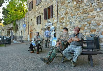Residents of San Gimignano