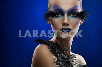 Young woman with fantasy makeup