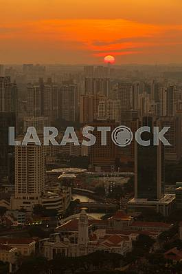 Summer Sunset over Singapore